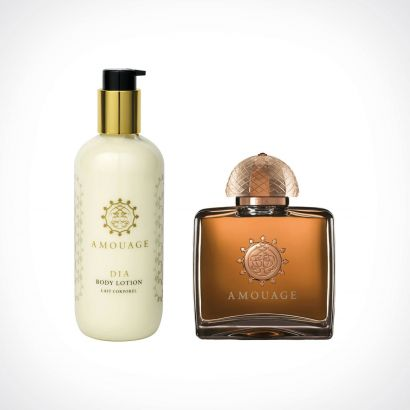 Amouage Dia Woman EDP + Body Lotion | dovanų rinkinys | 100 ml + 300 ml | Crème de la Crème