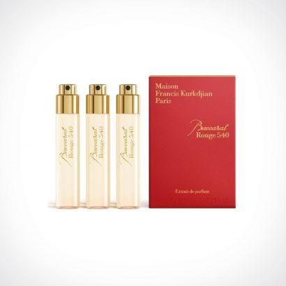 Maison Francis Kurkdjian Baccarat Rouge 540 Extrait de Parfum Refills | kelioninis rinkinys | 3 x 11 ml | Crème de la Crème