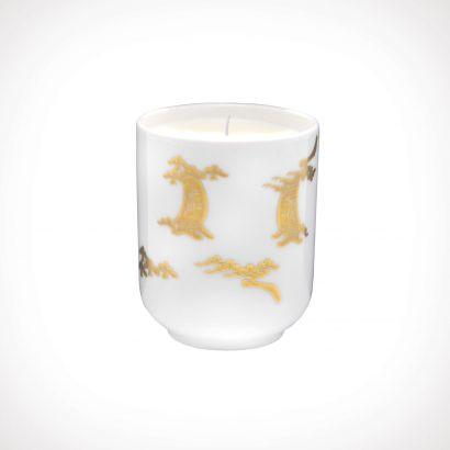 Floraïku Smoked Wood Scented Candle Tea Cup | kvapioji žvakė | 130 g | Crème de la Crème