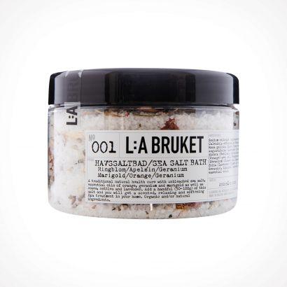 L:a Bruket 001 Marigold/Orange/Geranium Sea Salt Bath | 450 g | Crème de la Crème