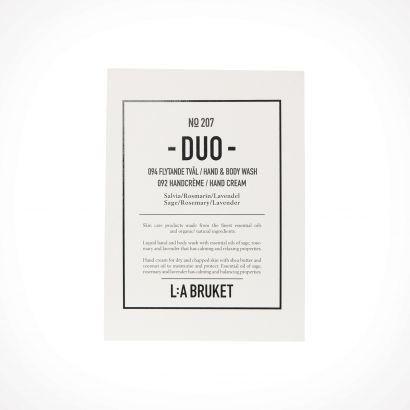 L:a Bruket 207 Sage/Rosemary/Lavender Duo Kit Hand & Body Wash/Hand Cream | dovanų rinkinys | 2 x 200 ml | Crème de la Crème