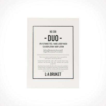 L:a Bruket 208 Sage/Rosemary/Lavender Duo Kit Hand & Body Wash/Body Lotion | dovanų rinkinys | 2 x 200 ml | Crème de la Crème