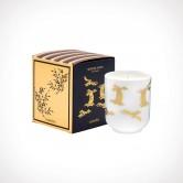 Floraïku Smoked Wood Scented Candle Tea Cup 2   kvapioji žvakė   130 g   Crème de la Crème