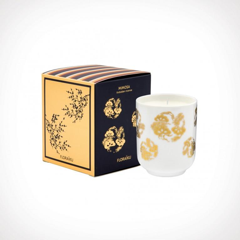 Floraïku Mimosa Scented Candle Tea Cup 2 | kvapioji žvakė | 130 g | Crème de la Crème