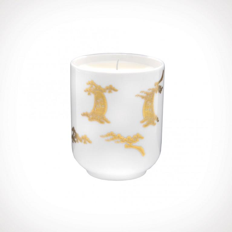 Floraïku Smoked Wood Scented Candle Tea Cup 1   kvapioji žvakė   130 g   Crème de la Crème