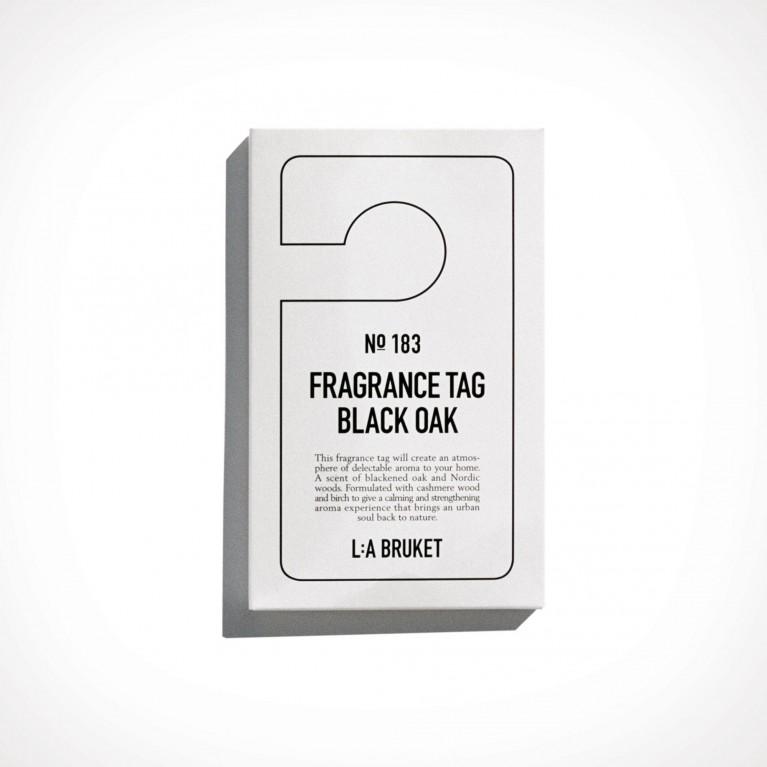 L:a Bruket 183 Black Oak Fragrance Tag 2 | 150 x 80 mm | Crème de la Crème