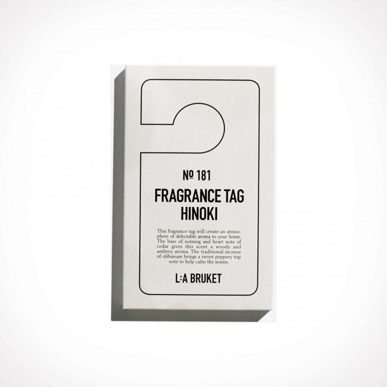 L:a Bruket 181 Hinoki Fragrance Tag 2 | 150 x 80 mm | Crème de la Crème