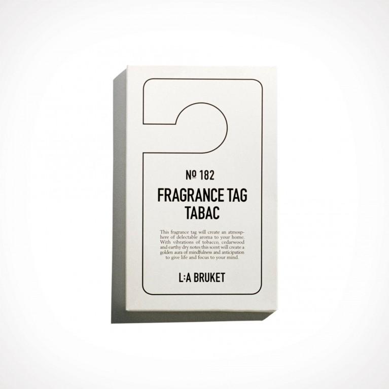 L:a Bruket 182 Tabac Fragrance Tag 2   150 x 80 mm   Crème de la Crème