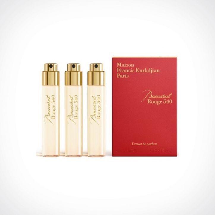 Maison Francis Kurkdjian Baccarat Rouge 540 Extrait De Parfum Refills   kelioninis rinkinys   3 x 11 ml   Crème de la Crème