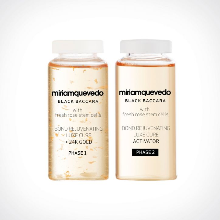 Miriam Quevedo Black Baccara Hair Bond Rejuvenating Luxe Cure With 24K Gold 1 | specialios priemonės plaukams | 4 x 20 ml | Crème de la Crème