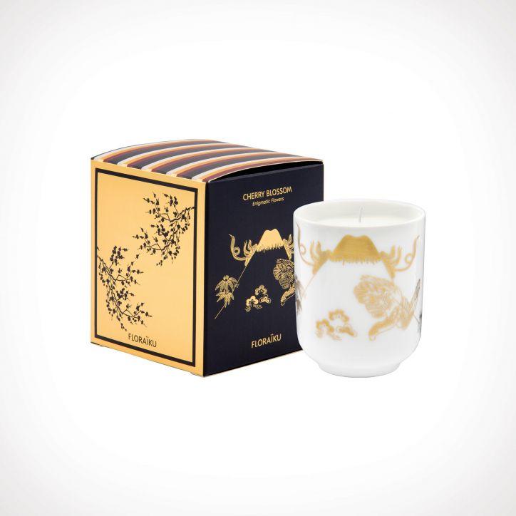 Floraïku Cherry Blossom Scented Candle Tea Cup 2   kvapioji žvakė   130 g   Crème de la Crème