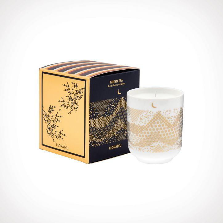 Floraïku Green Tea Scented Candle Tea Cup 2   kvapioji žvakė   130 g   Crème de la Crème
