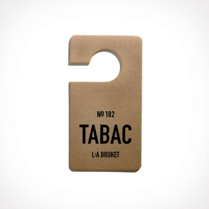 L:a Bruket 182 Tabac Fragrance Tag 1   150 x 80 mm   Crème de la Crème