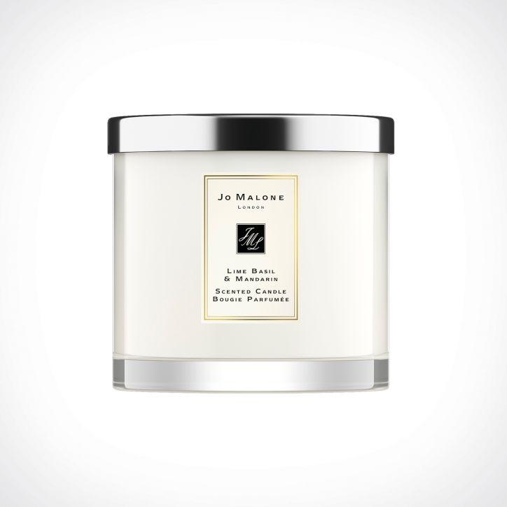 Jo Malone London Lime Basil & Mandarin Deluxe Scented Candle   kvapioji žvakė   600 g   Crème de la Crème