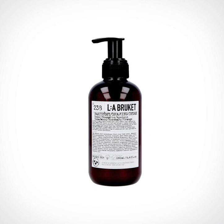 L:a Bruket 238 Cedarwood/Rosemary/Orange Shaving Cream | skutimosi kremas | 190 ml | Crème de la Crème