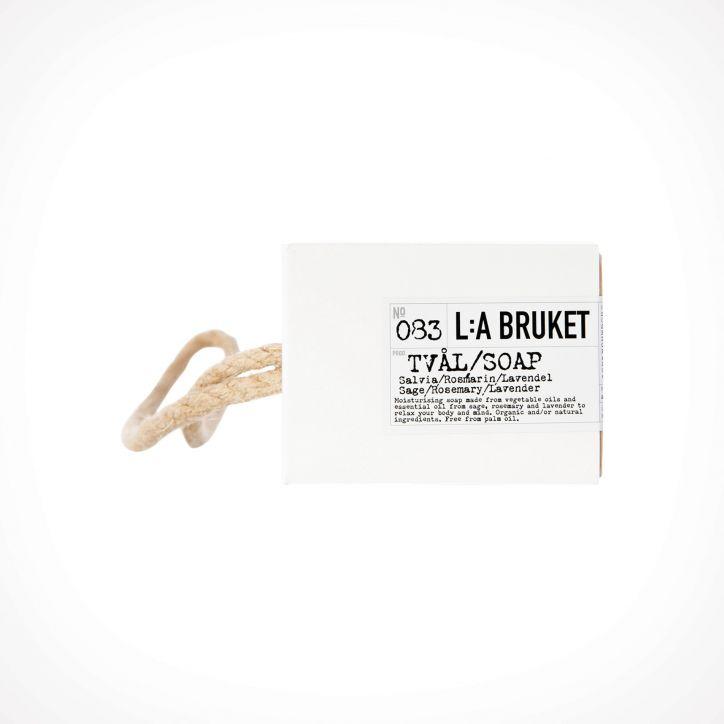 L:a Bruket 083 Sage/Rosemary/Lavender Rope Soap 2 | muilas | 240 g | Crème de la Crème