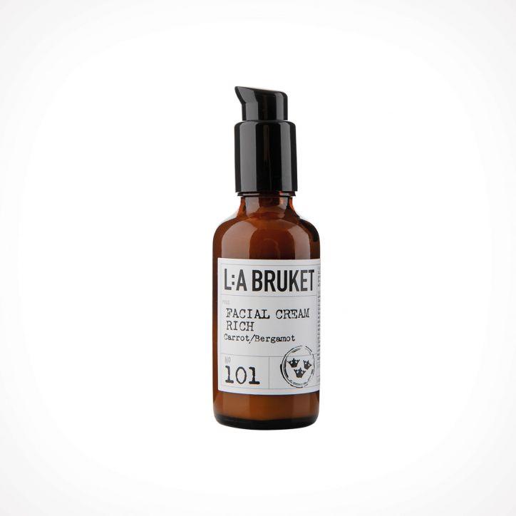 L:a Bruket 101 Carrot/Bergamot Facial Cream Rich 1 | 50 ml | Crème de la Crème