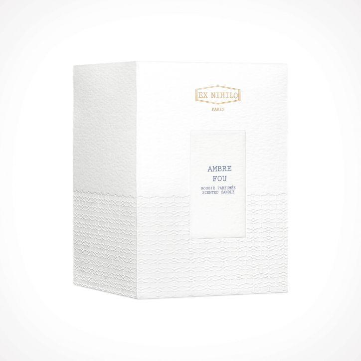 EX NIHILO PARIS Ambre Fou Scented Candle 2   300 g   Crème de la Crème