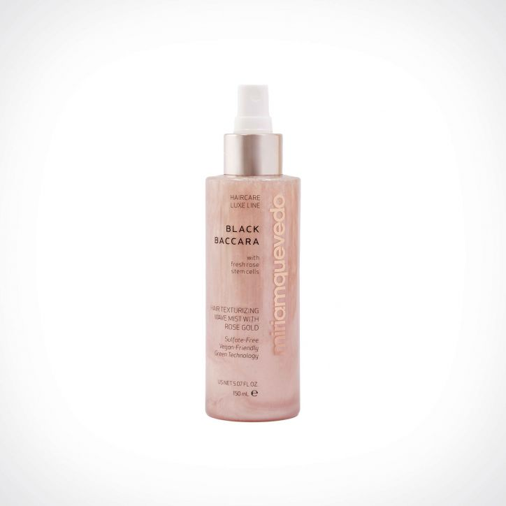 Miriam Quevedo Black Baccara Hair Texturizing Wave Mist With Rose Gold | 150 ml | Crème de la Crème