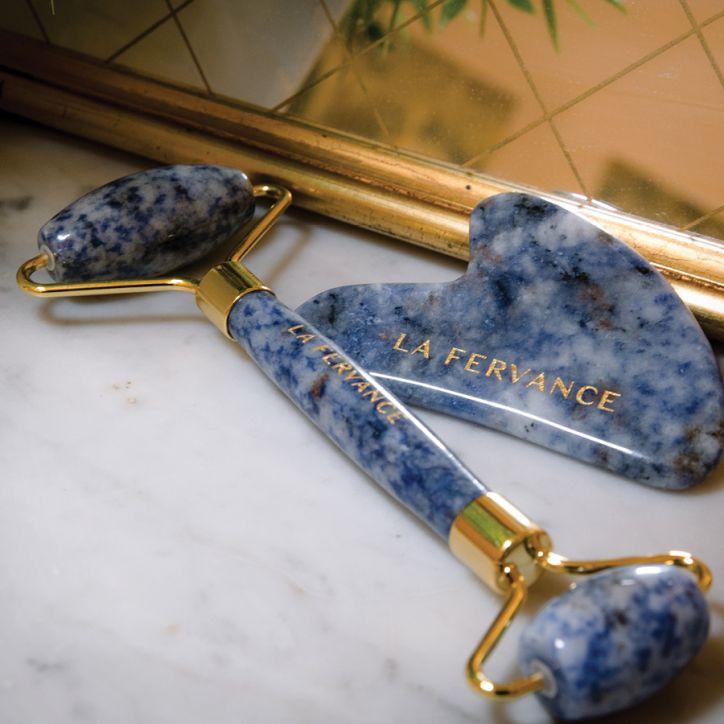 La Fervance Gua Sha & Roller Facial Contour And Sculpting Kit 2   Veido masažuoklis   set   Crème de la Crème